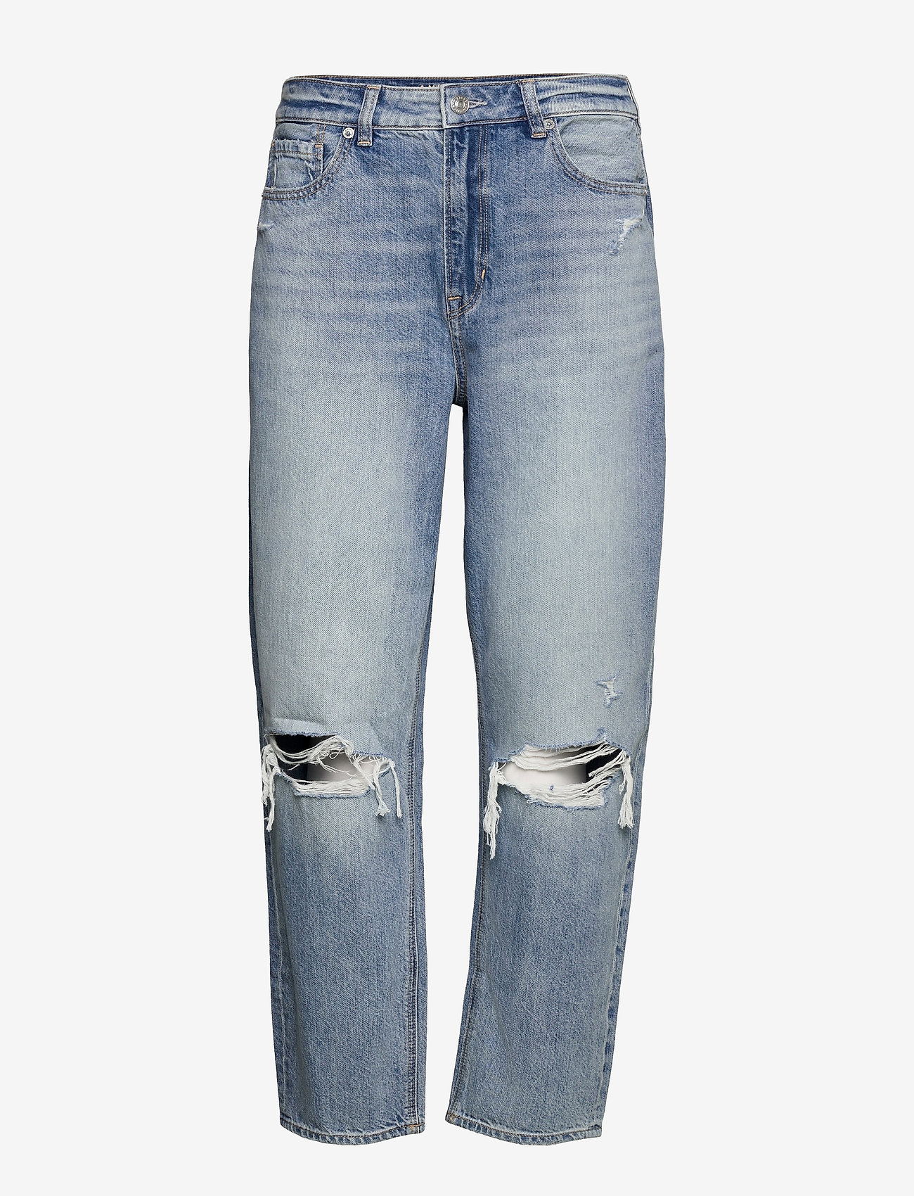 American Eagle - AE Ripped Mom Jean - mammajeans - coldwater rinse - 0