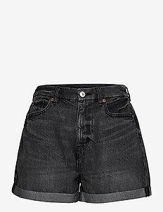 AE Curvy Denim Mom Shorts - denimshorts - faded black