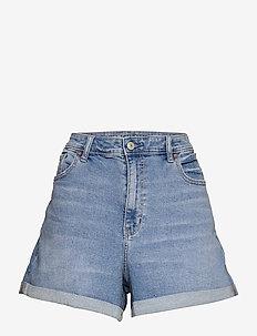 AE Stretch Denim Mom Shorts - denimshorts - medium bright indigo
