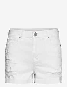 AE Curvy High-Waisted Short Short - denimshorts - white