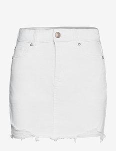 AE Ne(x)t Level High-Waisted Denim Mini Skirt - denimnederdele - white