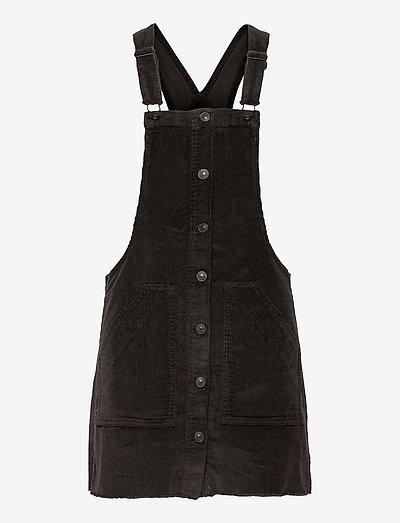 AE Corduroy Dress Overall - hverdagskjoler - onyx black