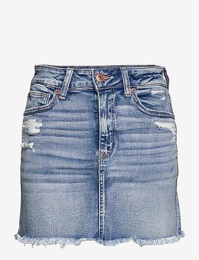 AE High-Waisted Denim Mini Skirt - denimskjørt - medium destroy