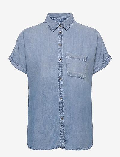 AE Short-Sleeve Button-Up Shirt - kortærmede skjorter - blue