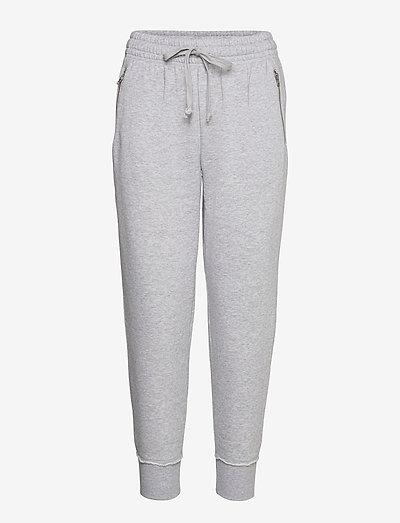 Aerie Fleece-Of-Mind Zip Jogger - sweatpants - medium heather gray