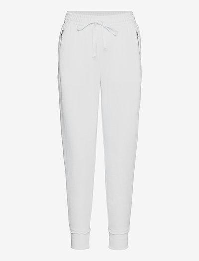 Aerie Fleece-Of-Mind Zip Jogger - sweatpants - white