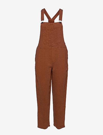 Aerie Twill Overall - klær - jupiter brown