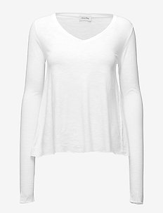 JACKSONVILLE - langermede topper - white