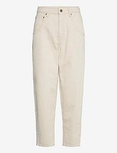 TINEBOROW - rette bukser - ecru