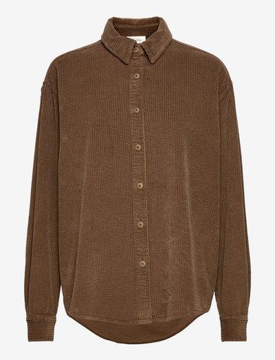 PADOW - langærmede skjorter - taupe