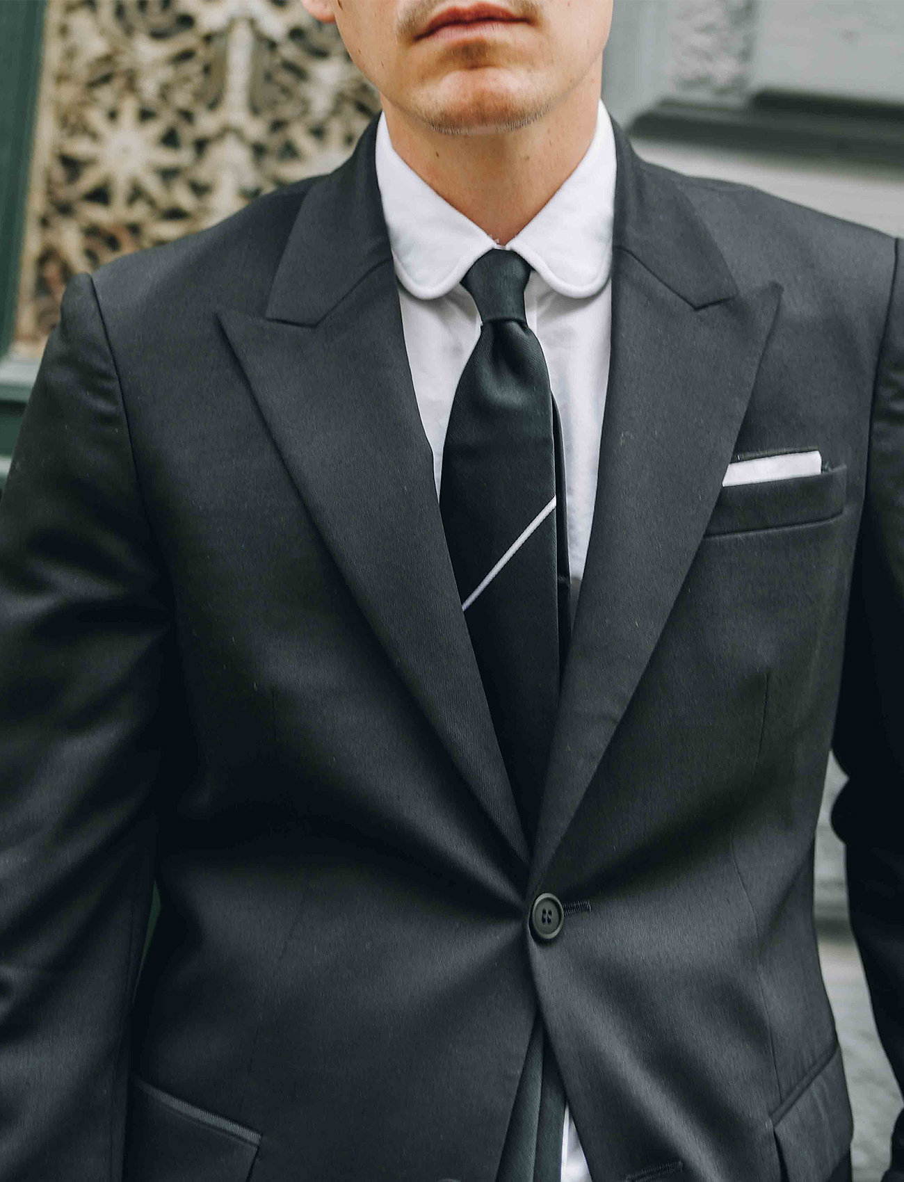 An Ivy - The Black Draper - cravates - black/white - 0