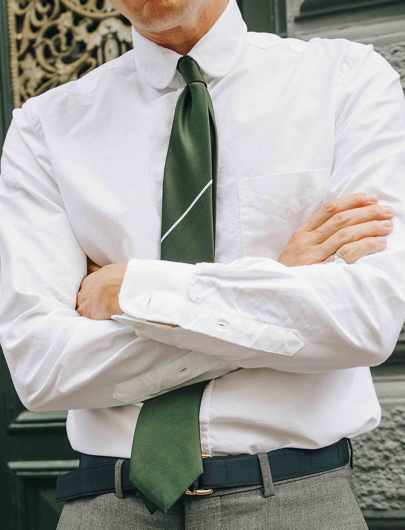 An Ivy - The Green Draper - cravates - green/white - 0