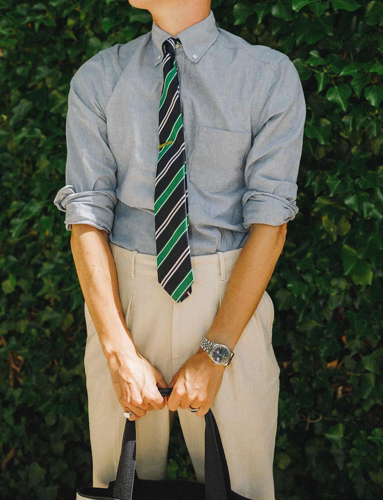 An Ivy - Navy Club Tie - cravates - navy/green/white - 0