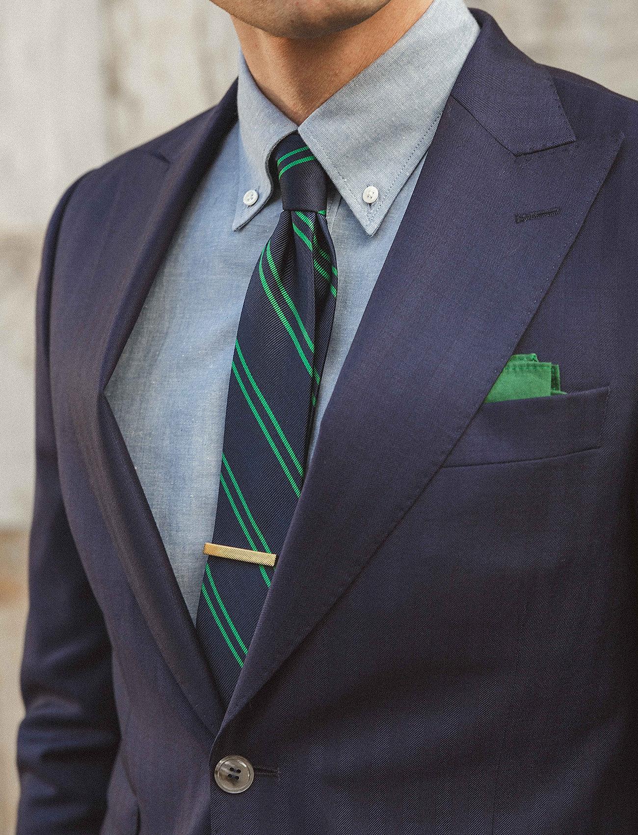 An Ivy - Navy/Green School Tie - cravates - navy/green - 0
