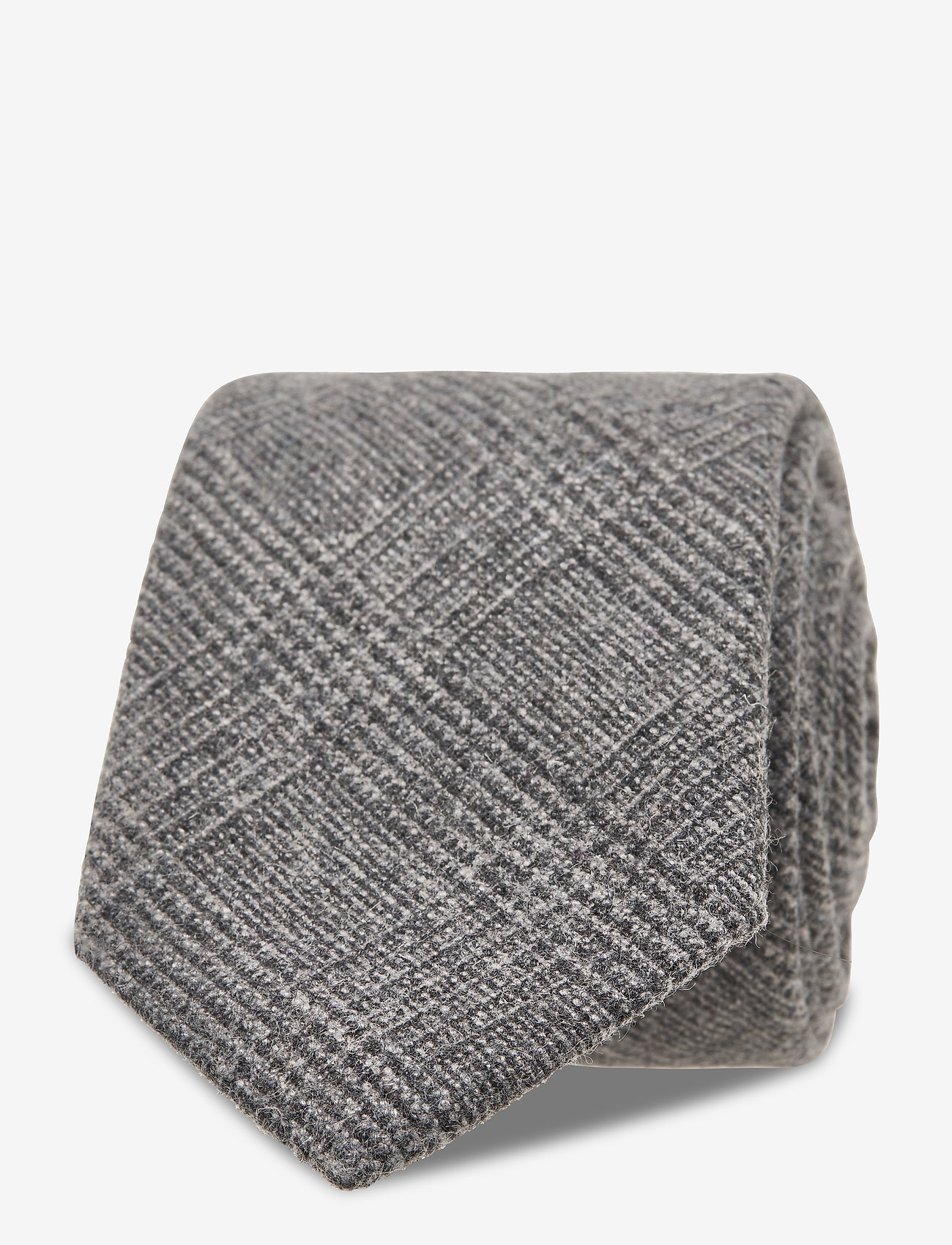 An Ivy - Charcoal Prince Wool Tie - grey - 1