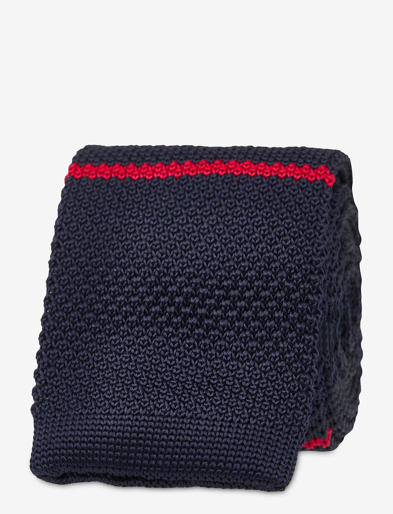 An Ivy - Navy Red White Classic Knit - cravates - navy/white/red - 1