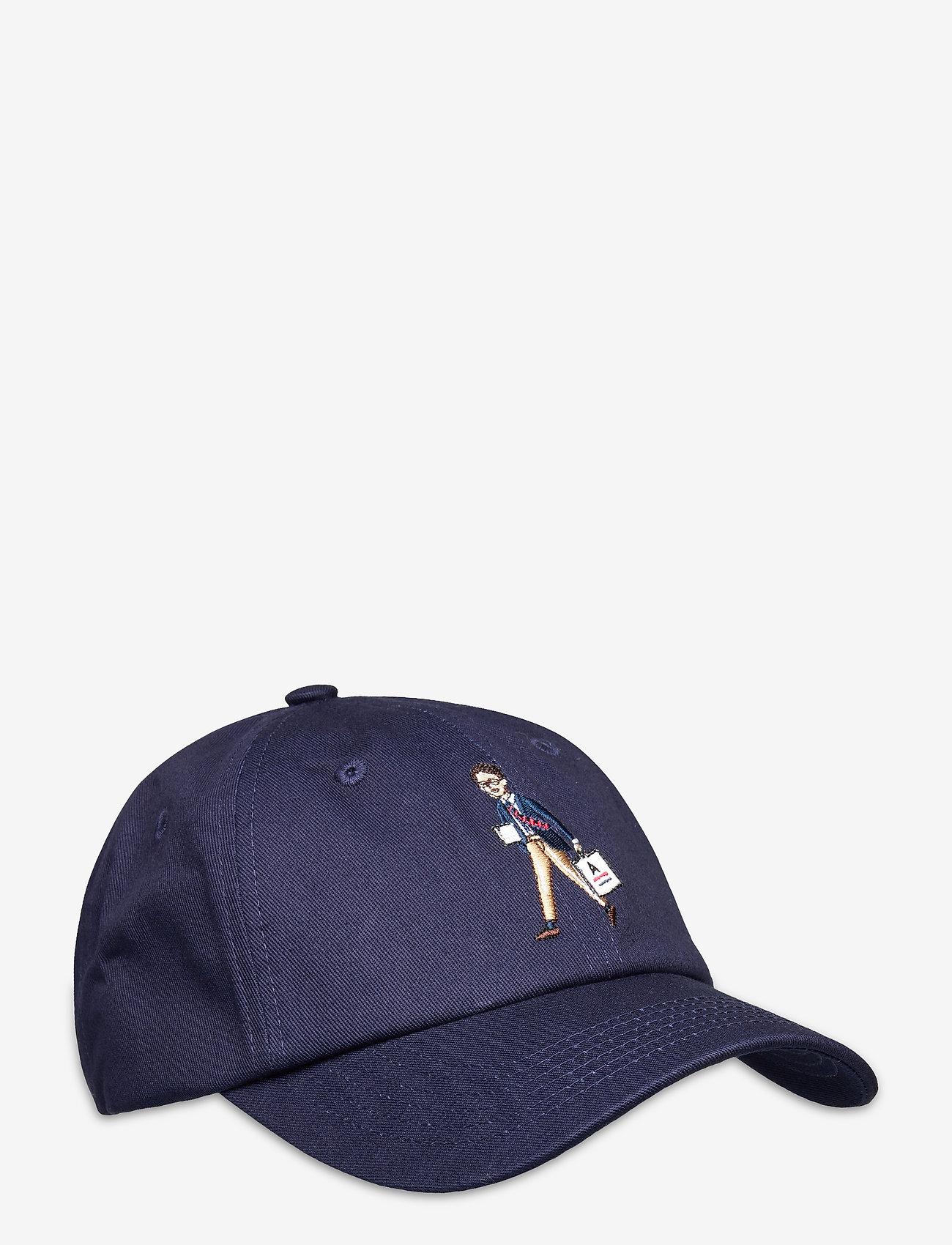 An Ivy - Navy Shopper Cap - kasketter - white/navy/brown - 0
