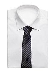 An Ivy - Navy Woven Flower Silk Tie - cravates - navy/gold/red - 2