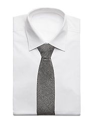 An Ivy - Charcoal Prince Wool Tie - grey - 2