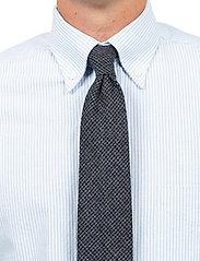 An Ivy - Black Blue Houndstooth Wool Tie - cravates - grey - 0