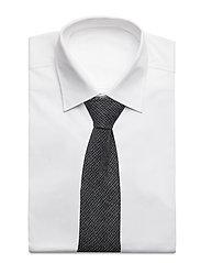 An Ivy - Black Blue Houndstooth Wool Tie - cravates - grey - 2