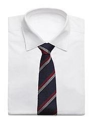 An Ivy - Blue White Red Grenadine Tie - cravates - blue/white/red - 2