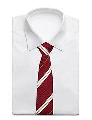 An Ivy - Red White Navy Orange Shantung Tie - cravates - red/white/navy - 2