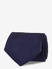 An Ivy - Navy Signature Flag Silk Tie - cravates - navy/white/brown - 1