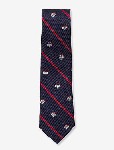 Navy Red Ivy Club Tie - slips - navy/red
