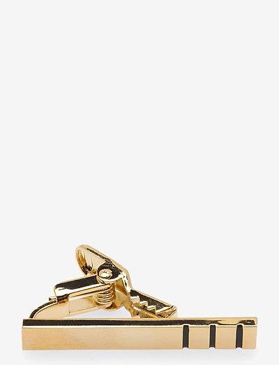 Black Triple Golden Bar 3,5 cm - slipsenåler - golden