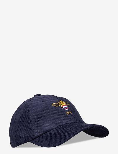 Navy Bee Corduroy Cap - kasketter - navy