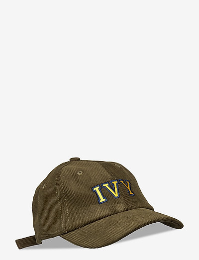 Army Green Ivy Corduroy Cap - kasketter - green