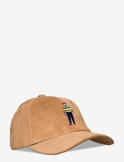 Beige Rugby Corduroy Cap - kasketter - beige