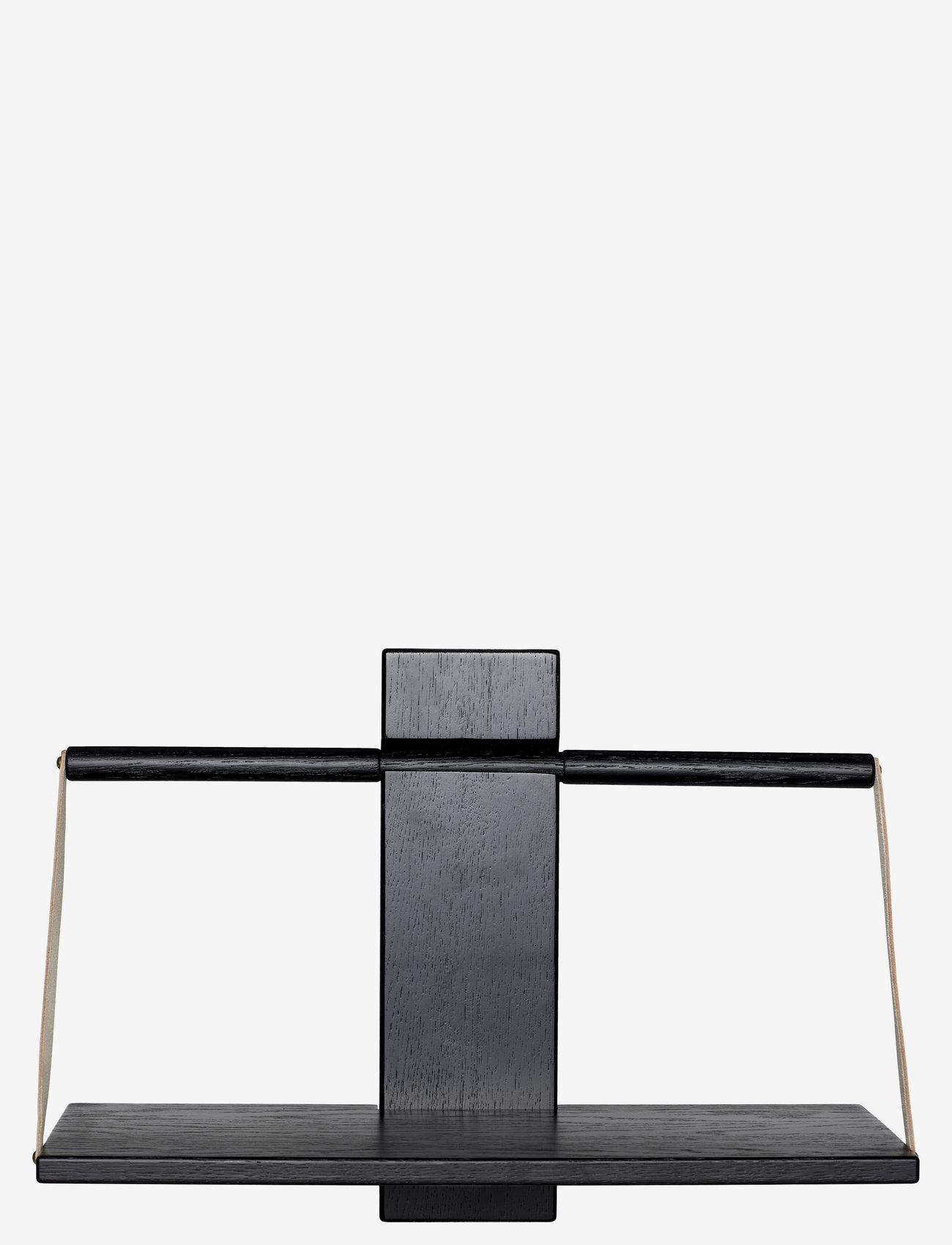 Andersen Furniture - Shelf Wood Wall - hyller & oppbevaring - black - 0