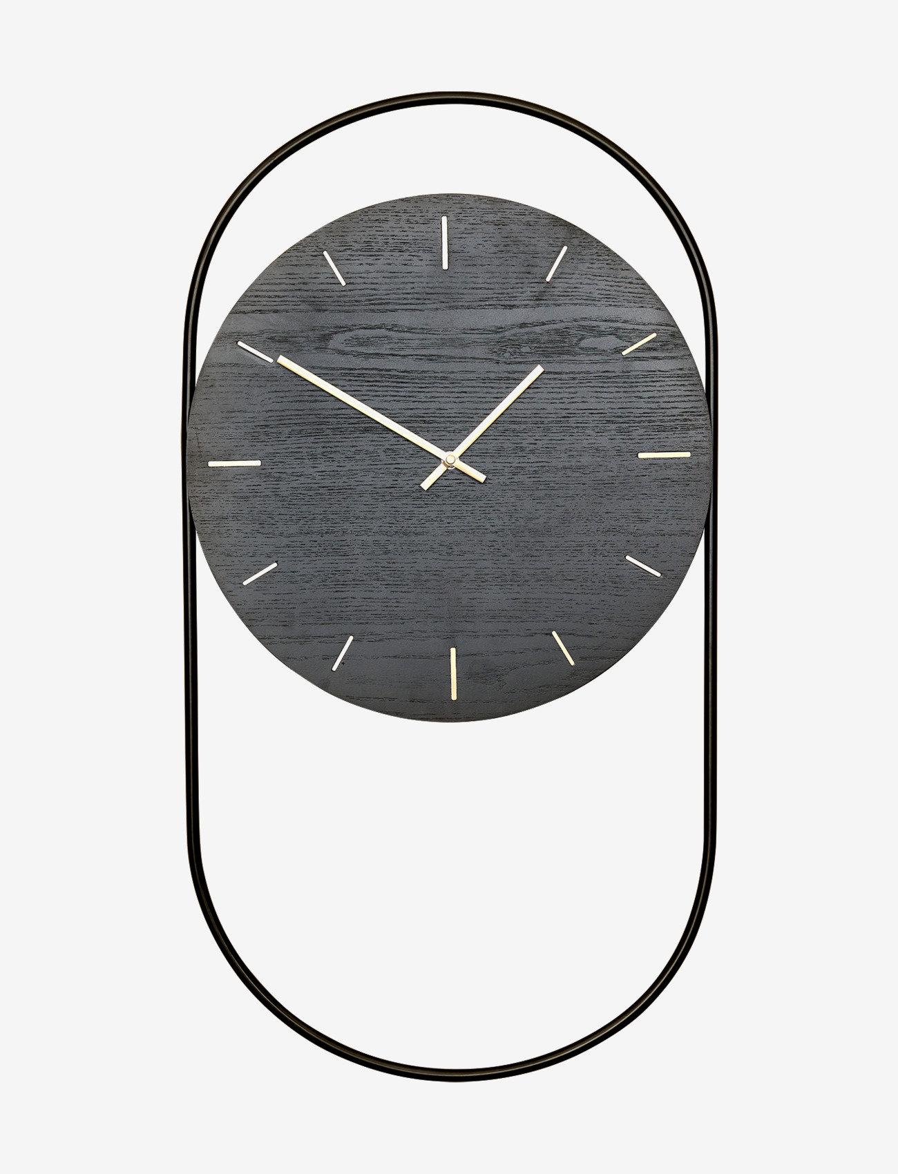 Andersen Furniture - A-Wall Clock Black with black metal ring - veggklokker - black - 0