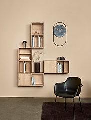 Andersen Furniture - A-Wall Clock Black with black metal ring - veggklokker - black - 7