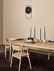 Andersen Furniture - A-Wall Clock Black with black metal ring - veggklokker - black - 8