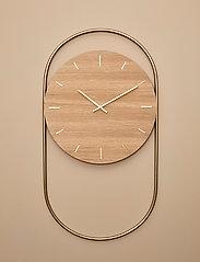 Andersen Furniture - A-Wall Clock Oak with brass ring - veggklokker - no color - 5
