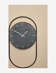 Andersen Furniture - A-Wall Clock Black with black metal ring - veggklokker - black - 2