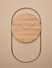 Andersen Furniture - A-Wall Clock Oak with brass ring - veggklokker - no color - 2
