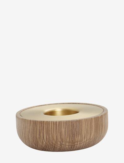 Oak Nordic tea light - lysestaker - no color