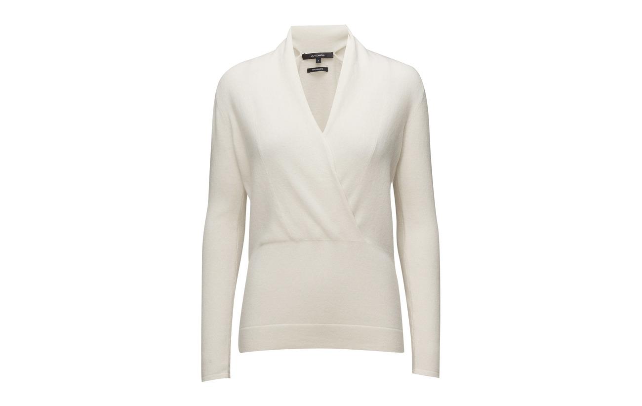 White Cachemire Liuda Sweater Andiata 100 Cloud R7TAq