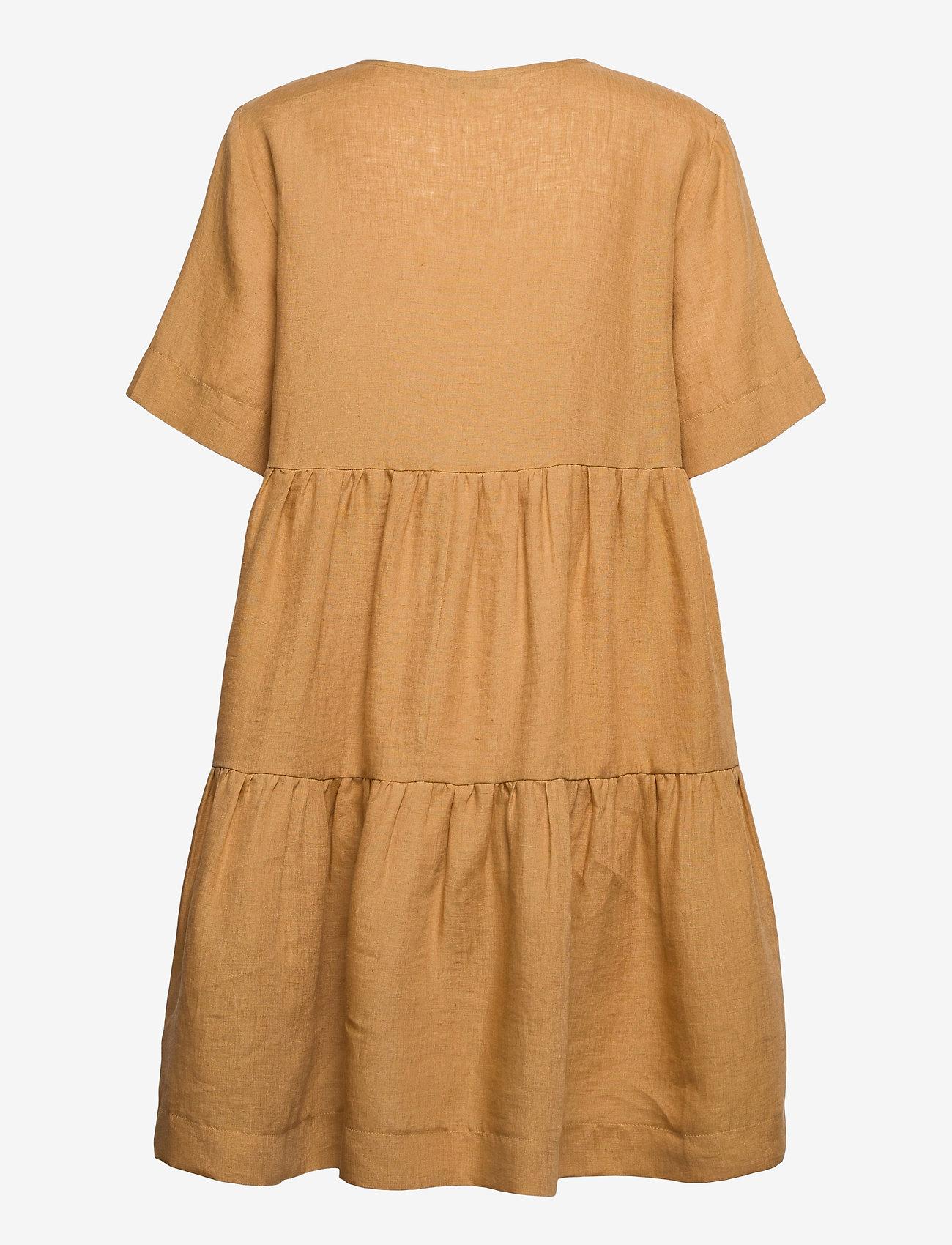 Andiata - Adabella Linen Dress - sundried oak brown - 1