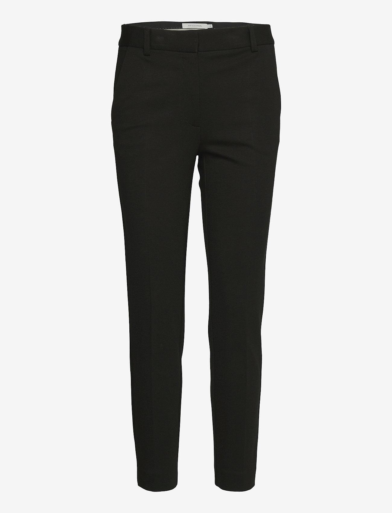 Andiata - Jamy Jersey Trousers - slim fit bukser - black - 1