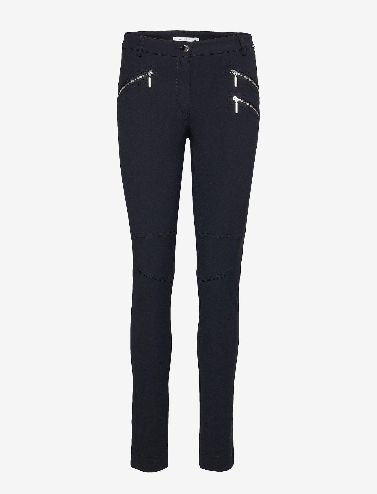 Andiata - Sacha 3 Trousers - broeken med skinny fit - dark navy - 1