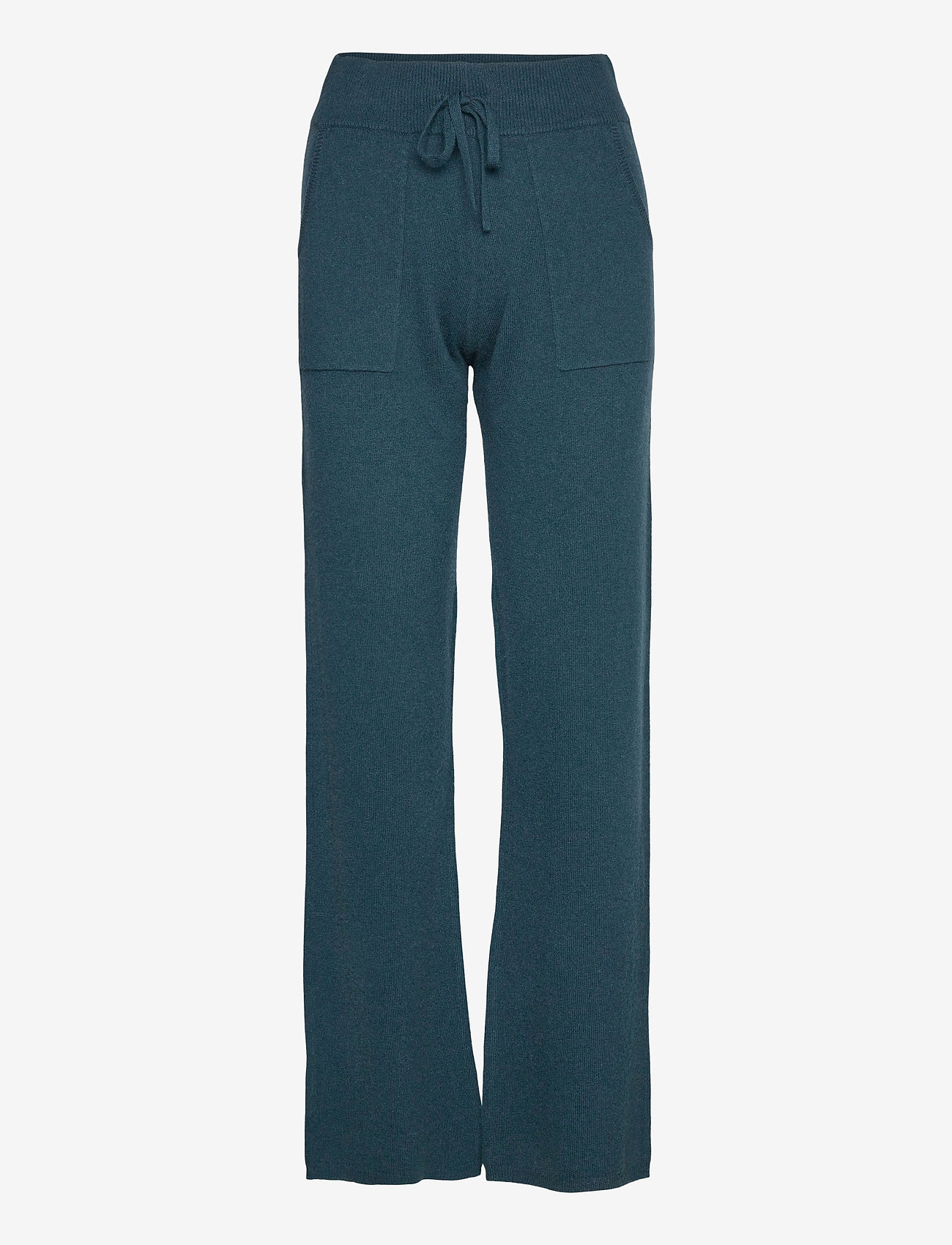 Andiata - Christie knit joggers - sweatpants - teal green - 1