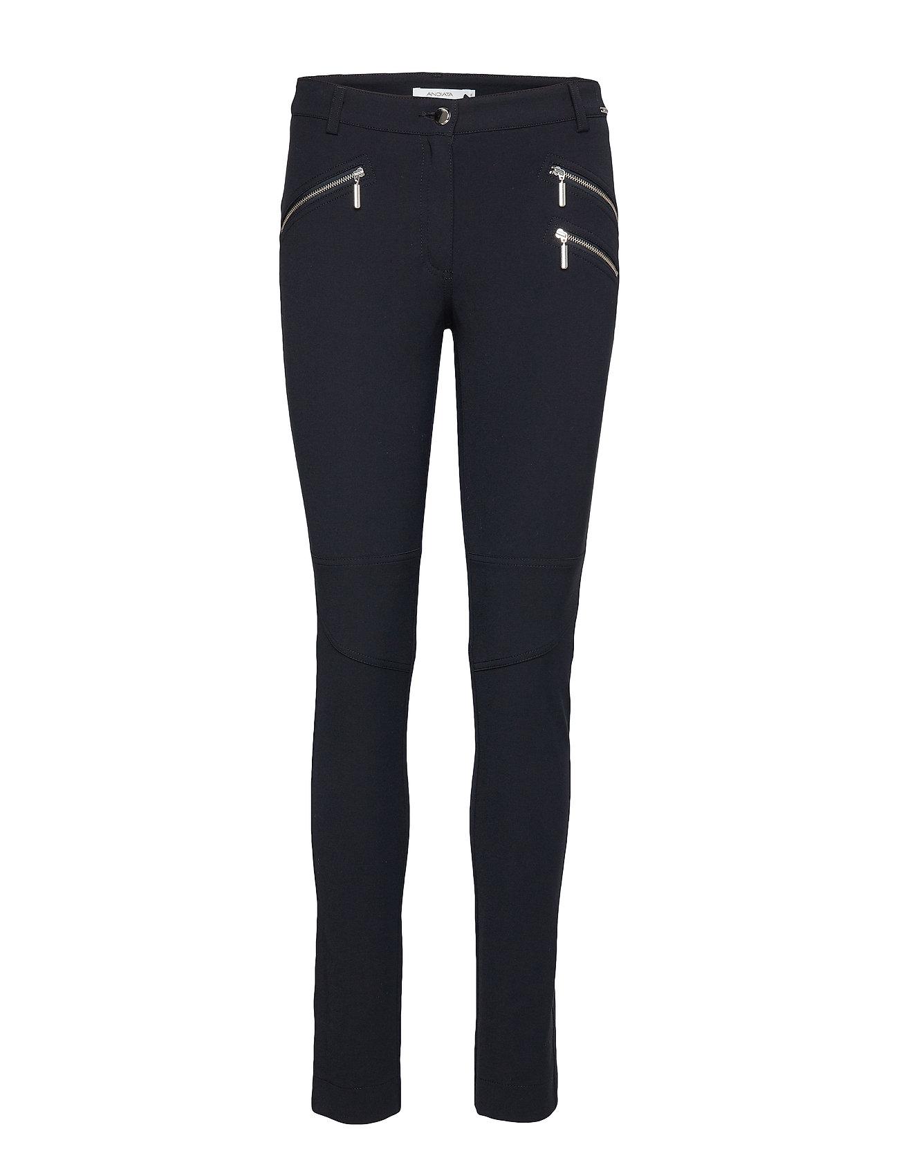 Image of Sacha 3 Trousers Smalle Bukser Skinny Pants Blå Andiata (3245420943)