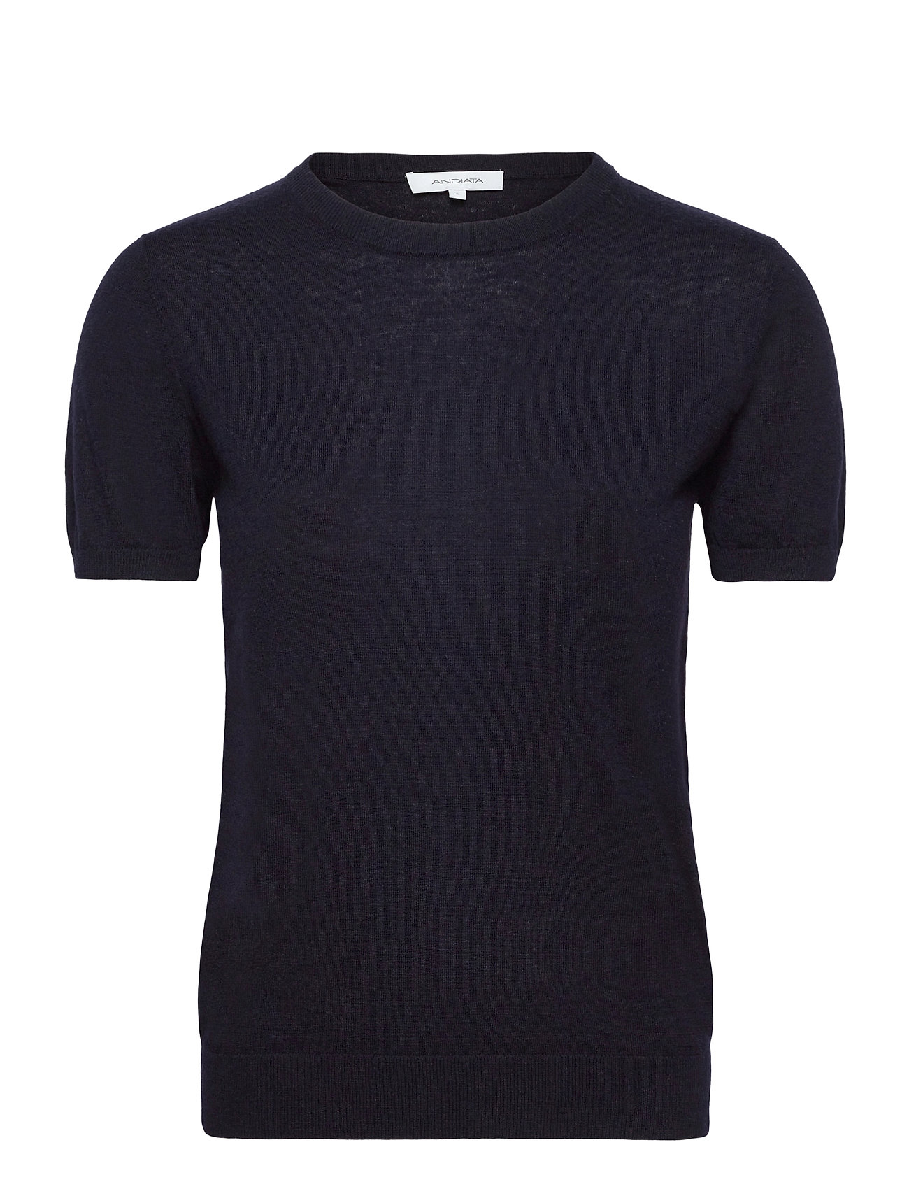 Image of Josefa Sl Knitted Top T-Shirts & Tops Knitted T-Skjorte/tops Blå Andiata (3476117863)