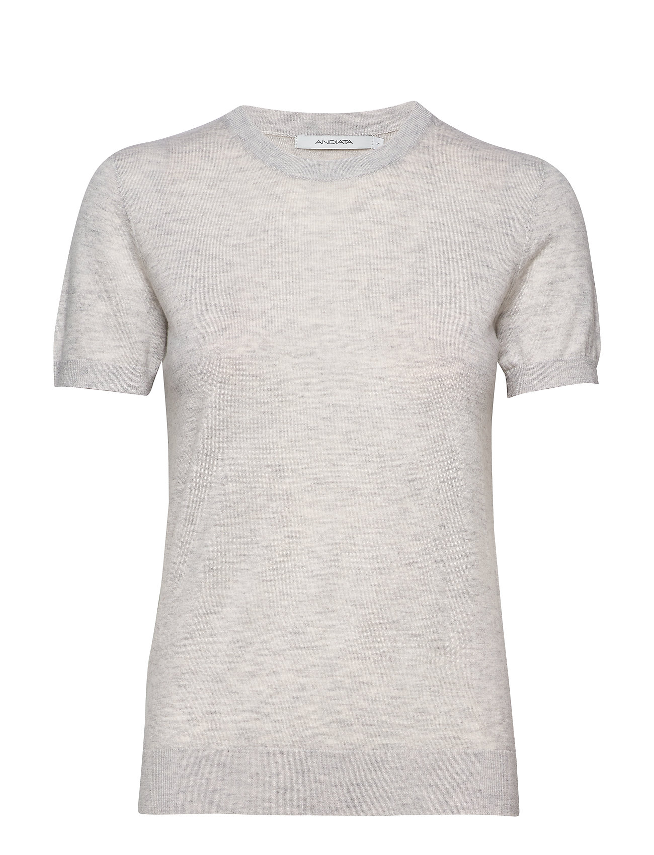 Image of Josefa Sl Knitted Top T-Shirts & Tops Knitted T-Skjorte/tops Grå Andiata (3303360795)