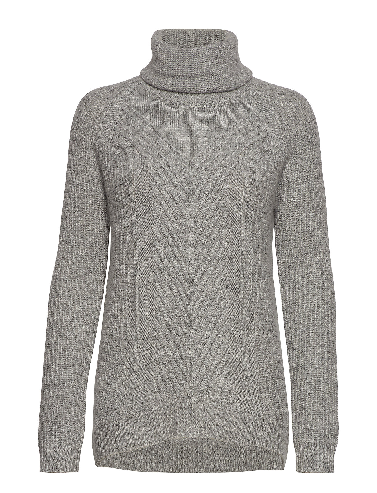 Andiata HOLLIE HIGH NECK CHUNKY KNIT - LIGHT GREY
